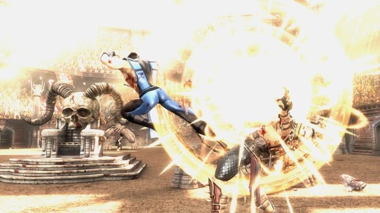 Or Sub-Zero's, if that's your thing. Here he is in his (DLC) MK3 outfit, defeating Shao Kahn in arcade mode and saving the world. All I can think of is