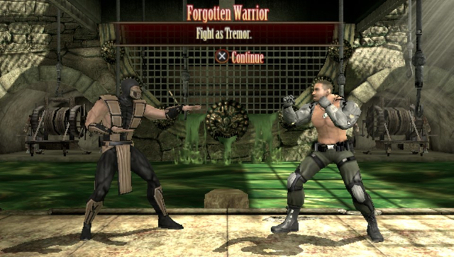 The PS Vita port includes its own set of bonus challenges, many of which use the system's gimmicks. Even Tremor shows up, for the first time ever in a fighting game.