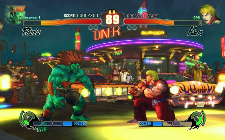 I have no idea if this screenshot is actually from Street Fighter IV or if it's one of the later versions. They're so similar that it doesn't really matter, but here at Outer World Labs we are all about authenticity.